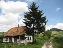 House in Transylvania. In Székelyzsombor what is on the border of Székely Land and Saxon Land Stock Images