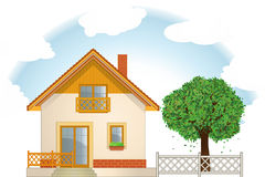 House and Tree Royalty Free Stock Photo