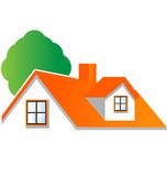 House with tree logo vector. Beautiful house with tree logo vector eps10 Royalty Free Stock Photo