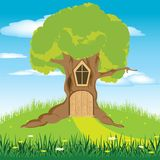 House in tree Royalty Free Stock Image