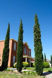 House with trees Stock Image