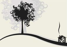 House and trees design. Illustration Stock Photos