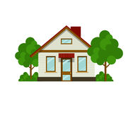 House with trees Stock Photography