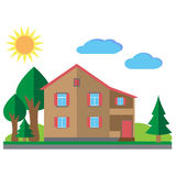 House with trees Royalty Free Stock Photography