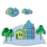 House and trees. Royalty Free Stock Photos
