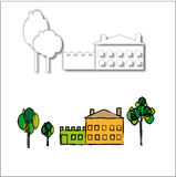 House and trees. Royalty Free Stock Images