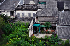 House with trees. Old town in thailand ,Takuapa ,PhangNga Stock Photos