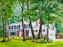 House in the Trees Royalty Free Stock Image