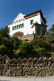 The house of Trias in the Park Guell of Barcelona. Stock Photo