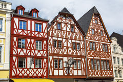 House in Trier Germany. Traditional German half-timbered houses in Trier, Rhineland-Palatinate, Germany Stock Images