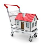 House on the trolley Royalty Free Stock Photography