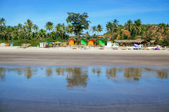 House at tropical beach Stock Photography