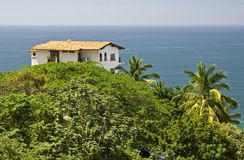 House in the tropics with ocean view Stock Photo