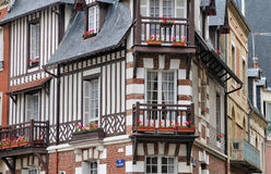 House in Trouville sur Mer in Normandie Stock Photo