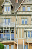 House in Trouville sur Mer in Normandie Royalty Free Stock Images