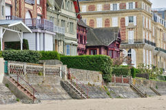 House in Trouville sur Mer in Normandie Royalty Free Stock Photography