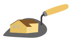 House on trowel Stock Photo