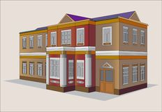 HOUSE. Two-floor architectural building for a dwelling Stock Images