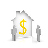 House and two persons Royalty Free Stock Images