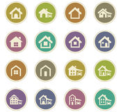 House type icons set Royalty Free Stock Photography