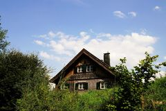 House In The Tyrolean Alps. Wooden house in the Tyrolean Alps Stock Images