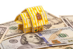 House on U.S. dollars Royalty Free Stock Photography