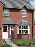 House uk red brick new build home. A house red brick home in britain nottingham Stock Photography