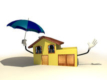 House with an umbrella Stock Image