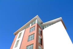 House under blue sky. House under deep blue sky Royalty Free Stock Photo