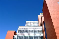 House under blue sky. Campus building  under deep blue sky Stock Image