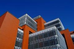 House under blue sky. Campus building under deep blue sky Stock Photography