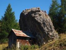 House under boulder Stock Photo