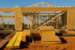 House  Under Construction Stock Image