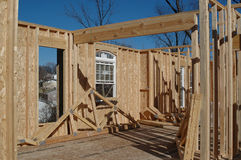 House under construction. With blue sky Stock Photography