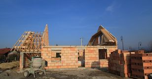 House under construction Royalty Free Stock Image