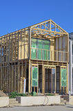 House under construction. Wooden frame of house under construction Royalty Free Stock Photography