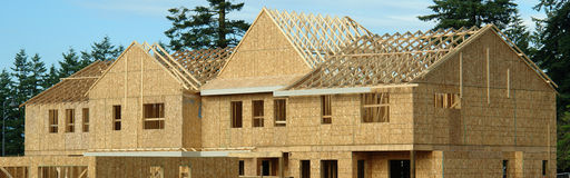 House Under Construction. New home exterior under construction Royalty Free Stock Photography