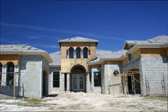 House under construction. In southern suburbs royalty free stock photo