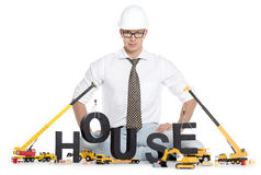 House under construction: Engineer building house- Stock Photos