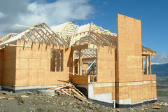 House Under Construction Framing Stock Photos