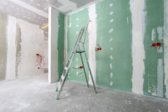 Construction. House under construction, interior view Stock Images
