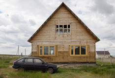 House under construction in rural areas Stock Photography