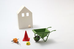 House under construction on white background Stock Photography