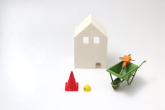 House under construction on white background Royalty Free Stock Photography