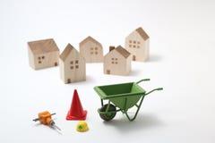 House under construction on white background Stock Image