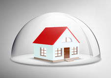 House under a glass dome Stock Image