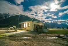 A House Under Millions Stars in Zanskar - Leh Ladakh, Jammu and Kashmir, India royalty free stock photo