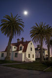 House Under the Moonlight Stock Images