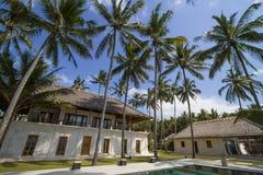 House under the palms Stock Photos