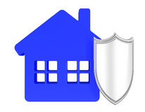 House under protection Royalty Free Stock Photography